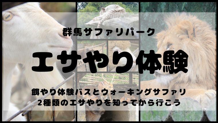 群馬サファリパークのエサやり体験は、餌やり体験バスとウォーキングサファリの2種類がある