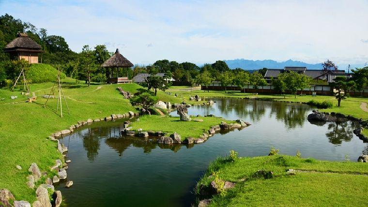 道の駅甘楽近くにある群馬県唯一の大名庭園楽山円