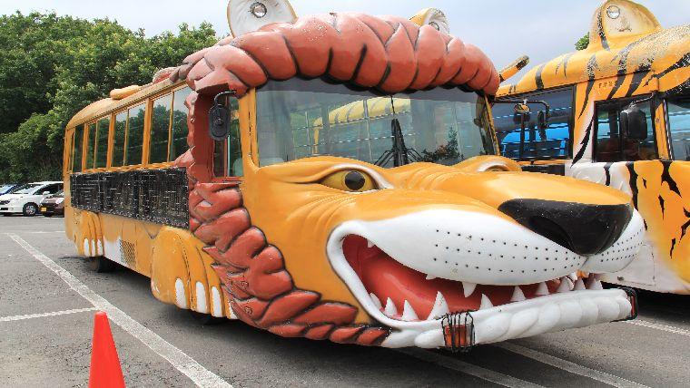 群馬サファリパーク餌やり体験バスのライオン号