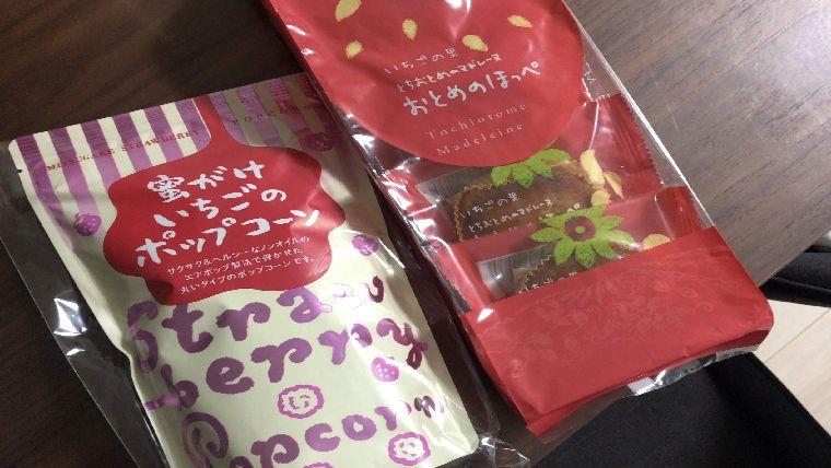 いちごの里が作った、栃木県で有名なとちおとめを使ったお菓子