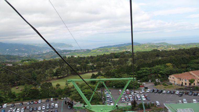 大室山登山リフトから見る景色