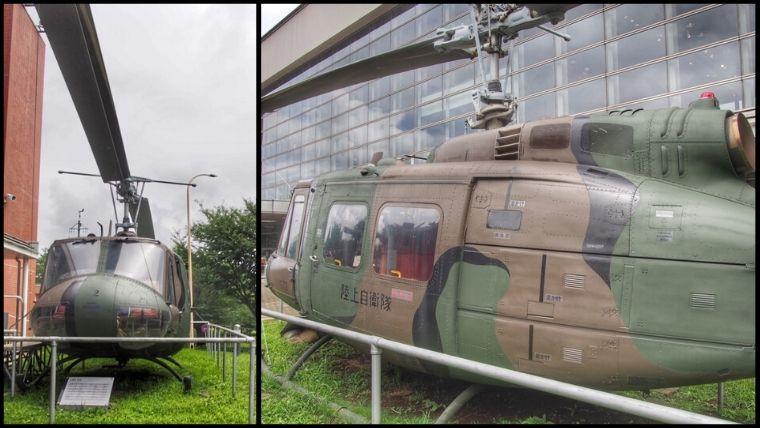 りっくんランドで屋外展示されているUH-1Hヘリコプター