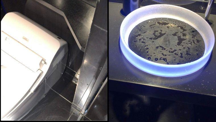 トップデッキにはトイレが設置されている。急な腹痛があっても安心。