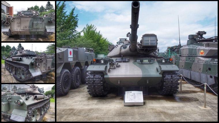 りっくんランド(陸上自衛隊広報センター)にある74式 戦車
