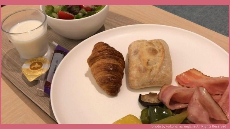ハイアットハウス金沢の朝食は、野菜が多く食べれる。