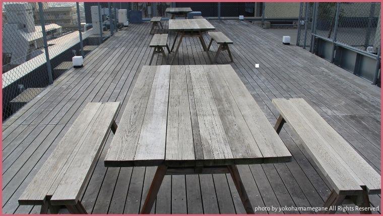 KUMU金沢では屋上にも共有スペースが用意されています。