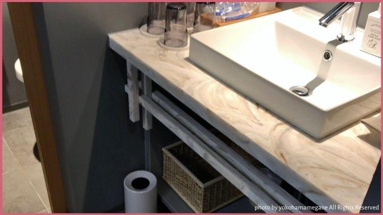 おしゃれで清潔感のある洗面台